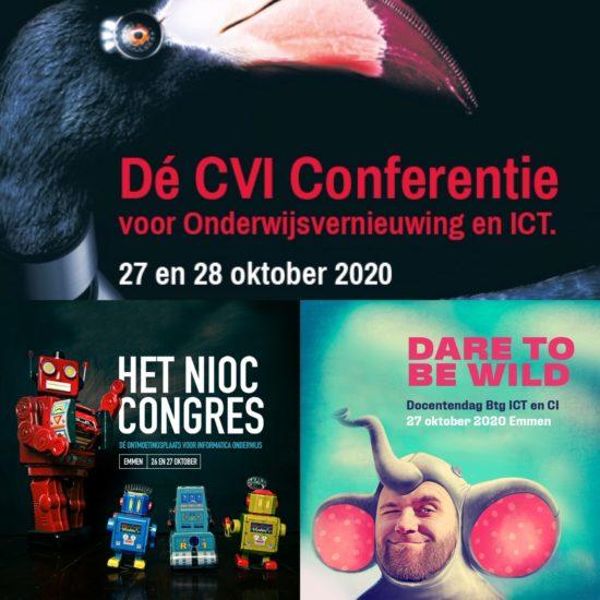 CvI Conferentie, NIOC Congres en Docentendag Btg ICT&CI nu in oktober