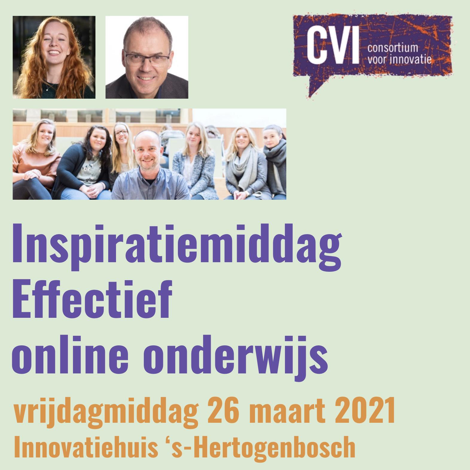 Inspiratiemiddag  Effectief online onderwijs
